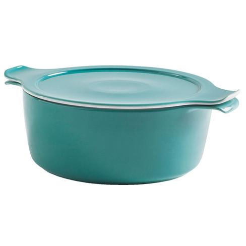 Porseleinen pan, petrol Ø 24 x H 12,5 cm, 4,0l, 2,2kg