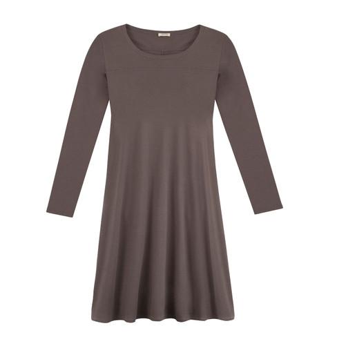 Jersey jurk, taupe 38
