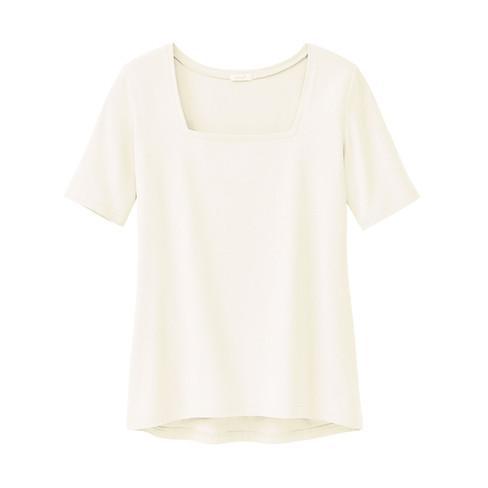 Carr�-shirt van bio-katoen, natuurwit 46