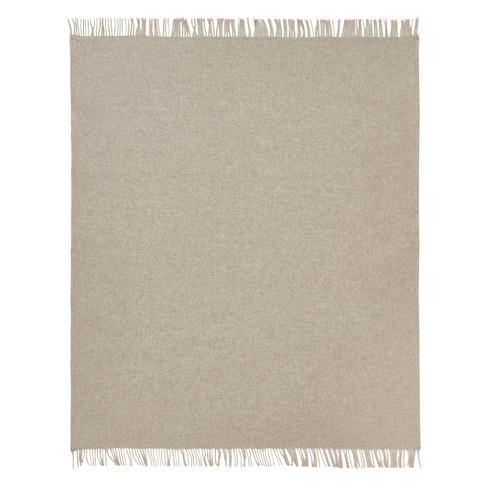Scheerwollen plaid, grijs 130 x 185 cm