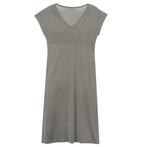 Zijden nachtjapon uit Organic Silk, platinum 44/46