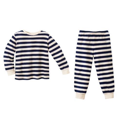 minibär Badstof-pyjama, blau/natur | Waschbär from Waschbär