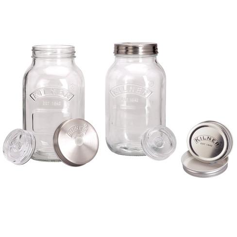 Glazen fermenteerpotten, 2-delige set