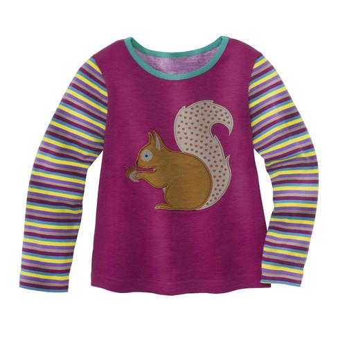 Shirt Eekhoorntje met lange mouw, bes 86 92
