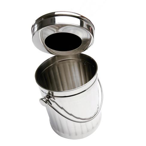 Bioafvalbak roestvrij staal 1, � 18 cm - h 28 cm, vol. 4,4 l.