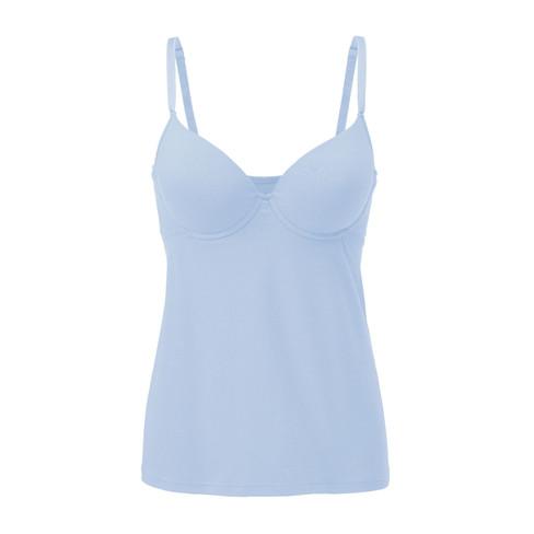 Bh-hemd met cups, ijsblauw 80B