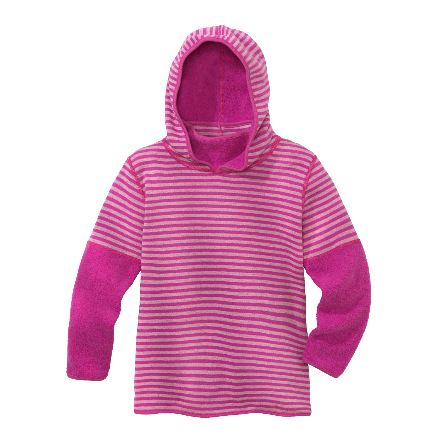 minibär DESIGN Keerbare kinderpullover van bio-fleece, fuchsia/naturel | Waschbär Eco-Shop from Waschbär