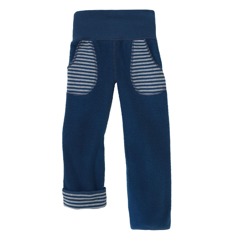minibär DESIGN Tweezijdig draagbare broek, Atlantisch blauw/naturel | Waschbär Eco-Shop from Waschbär