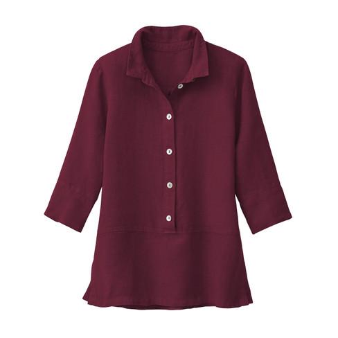 Lichte linnen blouse, granaat 44