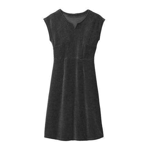 Velours jurk, grafiet 36