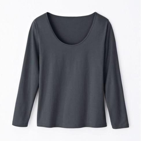 Shirt met lange mouwen, leisteen 40/42
