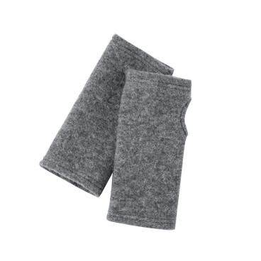 Walkstof armwarmers, antraciet/silver star