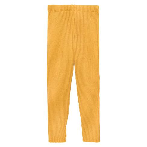 Gebreide legging, geel 110/116