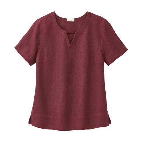 Linnen bloesshirt, hortensia 36