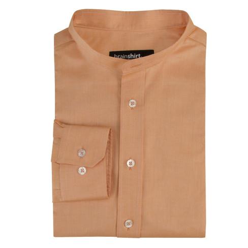 Overhemd ELVERUM uit biologisch katoen, abrikoos 43/44
