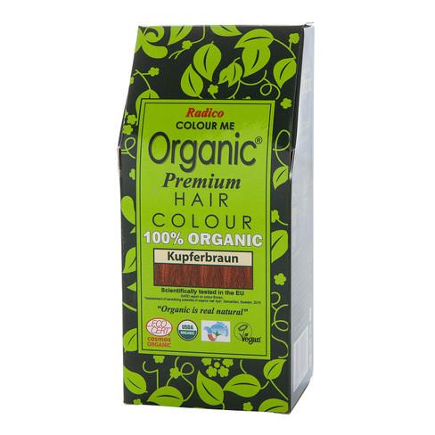 Radico Organic plantaardige haarkleuring 100 g, koperbruin