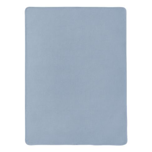 Bio-wafelpiqu� badhanddoek, nachtblauw 100 x 150 cm