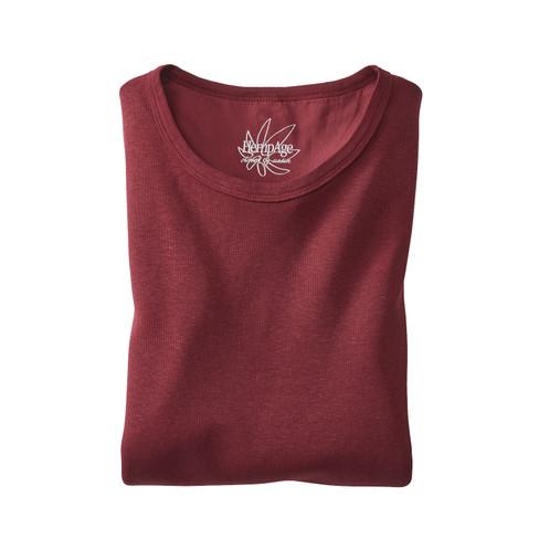 Hempage Shirt met lange mouwen, kastanje | Waschbär from Waschbär