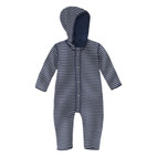 Baby-jumpsuit, blauw/naturel