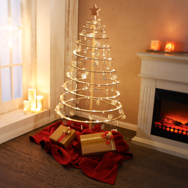 spiraal kerstboom van hout. Black Bedroom Furniture Sets. Home Design Ideas