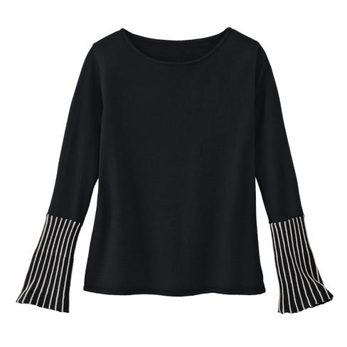 Pullover, zwart/steen 48