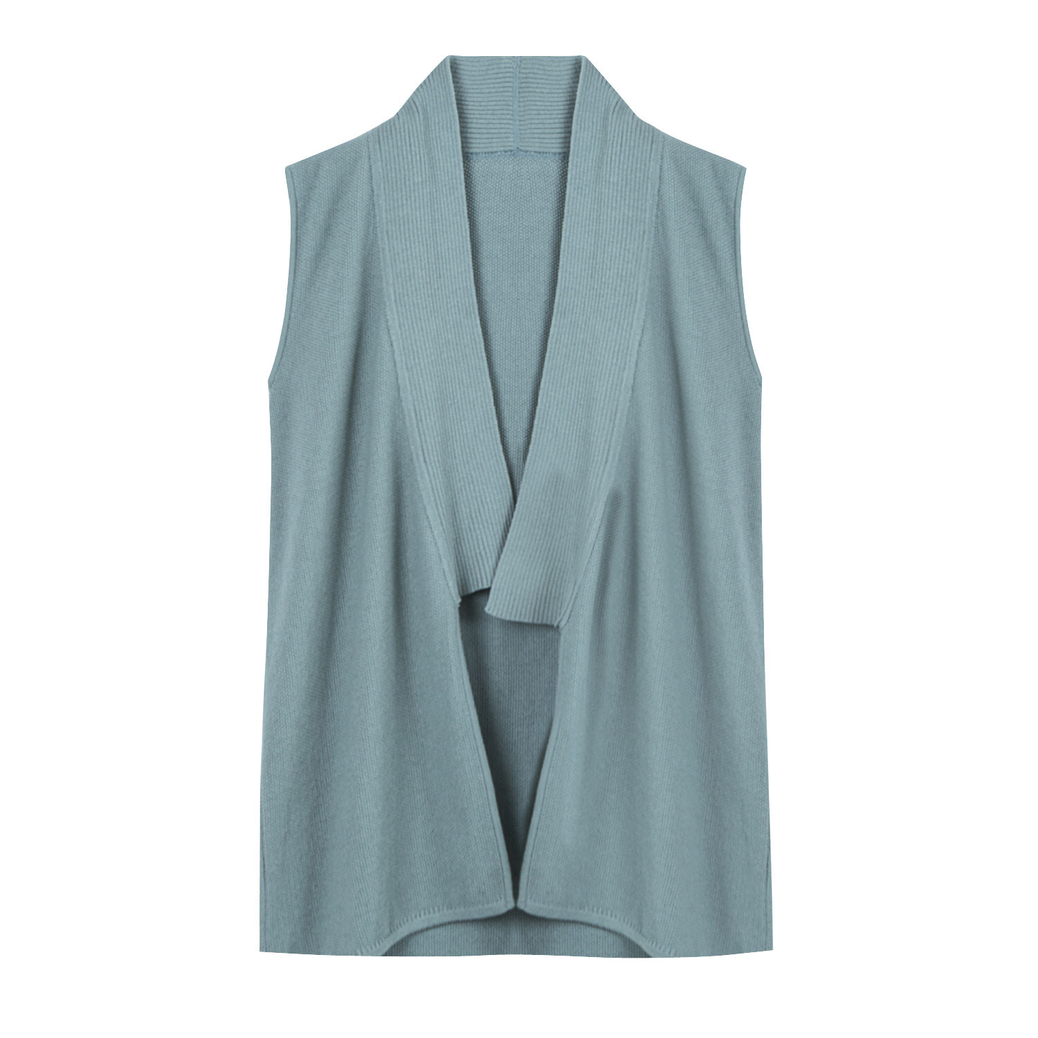 Gebreid gilet, ice blue