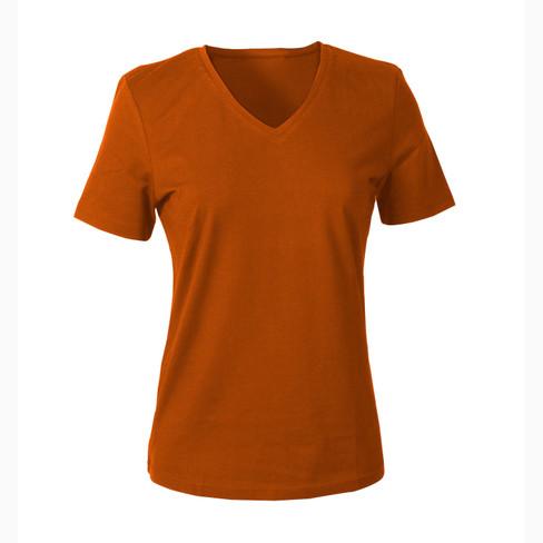 V-shirt voor HAAR, terracotta 46