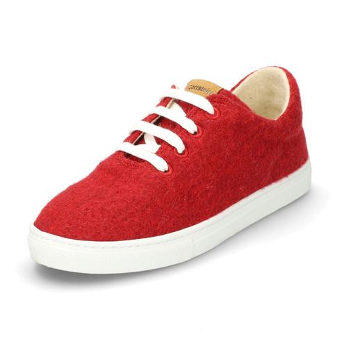 Wol-sneaker, rood-gemêleerd 38