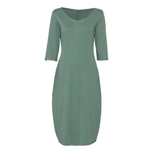 Jersey jurk van bio-katoen in tulpmodel zijzakken, nachtblau 38