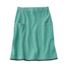 Fleece rok kort, jade