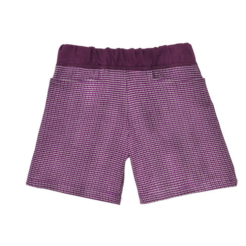 Gebreide jacquard shorts, lila/bes 110/116