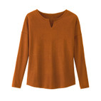 Shirt 1/1 mouw, terracotta