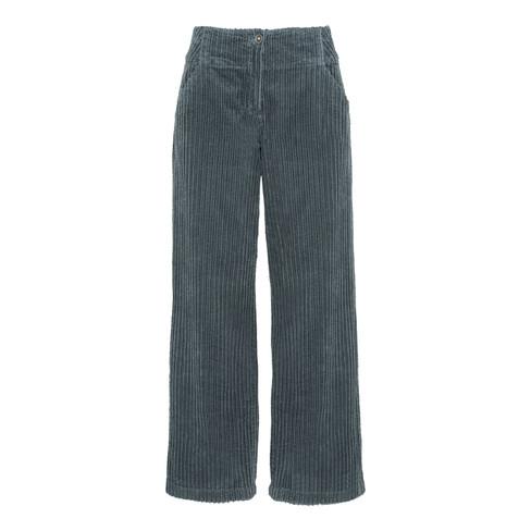 Ribcord broek, rookblauw 36