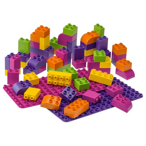BIOBUDDI bouwblokken, gemengde kleuren
