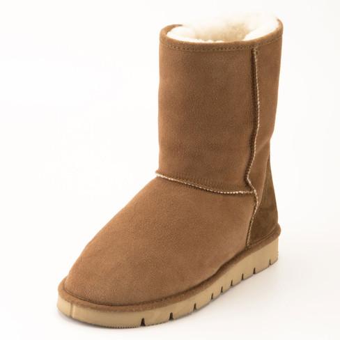 Boots met lamsvel, cognac 38
