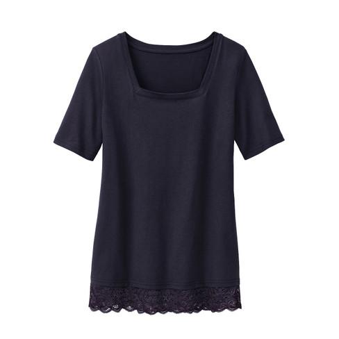 Carr�-shirt met kant, zwart 50