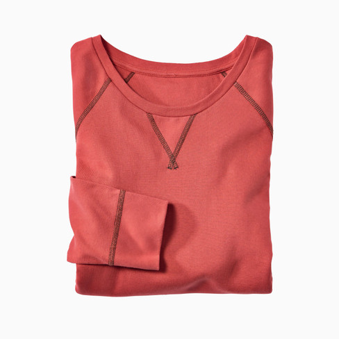 Shirt met lange mouwen uit bio-katoen, papaja S
