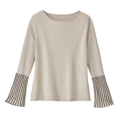 Pullover, steen/zwart 36