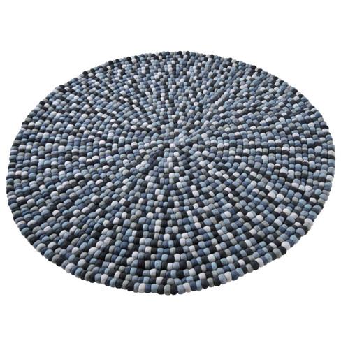 Scheerwollen vilten tapijt, grijs 40 x 60 cm