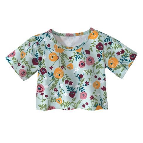 Overshirt, Bloemen 122/128
