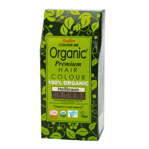 Radico Organic plantaardige haarkleuring 100 g, Lichtbruin