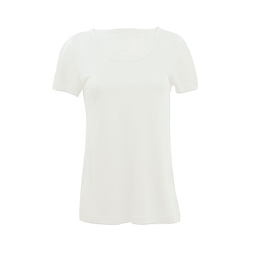 Shirt met korte mouwen, naturel