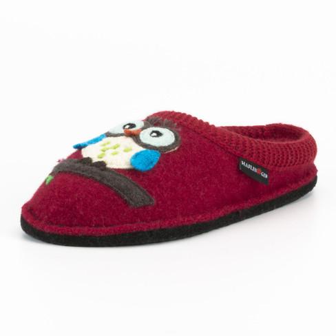 Pantoffels Uil, rood 42