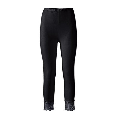 3/4-leggings, zwart 36