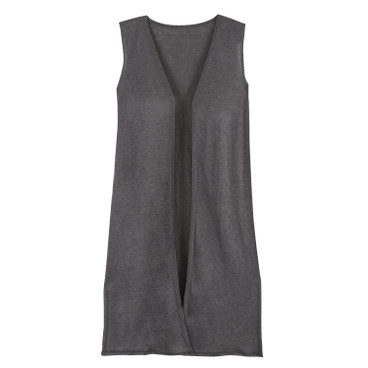 Lang gilet, antraciet
