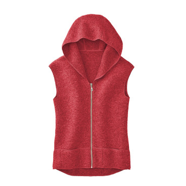 Walkstof gilet, papayarood