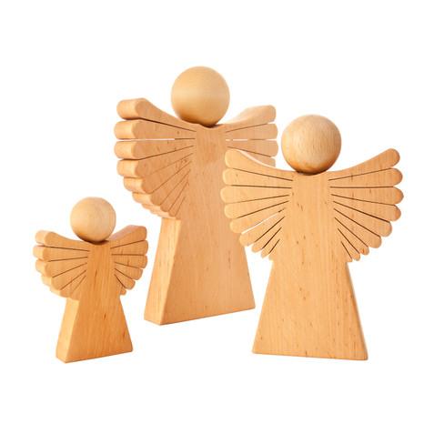 Engel van elzenhout H 10 x B 7 cm