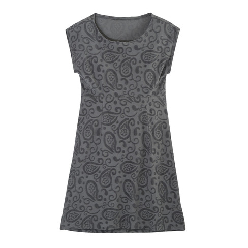 Intarsia jurk kort, platinum 44