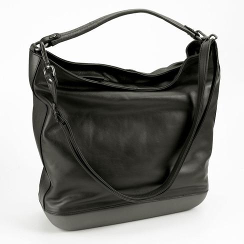 Leren tas, zwart