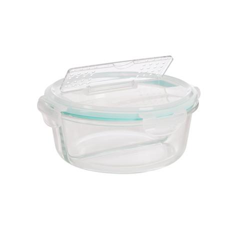 Ronde glazen lunchbox